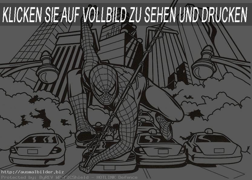 Spiderman, die Stadt und Autos