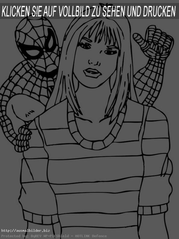 Spiderman spricht mit Fräulein